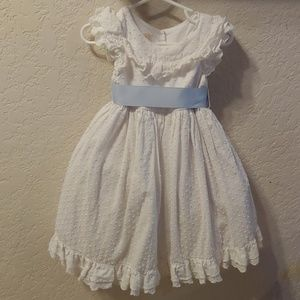 White Laura Ashley toddler dress